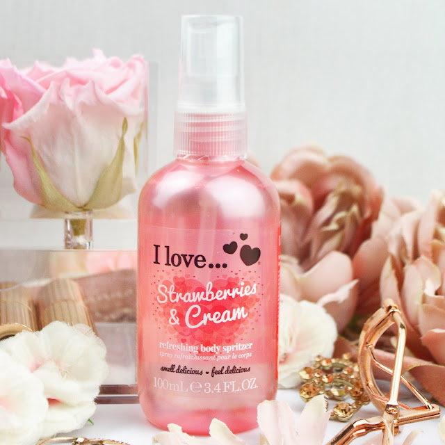 Lovelaughslipstick Blog I Love Strawberries & Cream Refreshing Body Spritzer