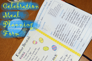 Celebration Meal Planning Form | craft.outsideofablog.info