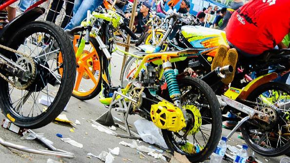 Modifikasi Mio Drag Racing