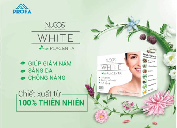 Thần dược trị nám đến từ Nhật Bản viên uống trị nám Nucos White Placenta