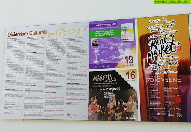 El programa cultural navideño del Ayuntamiento de Los Llanos de Aridane incluye cerca de 70 actividades para todos los públicos