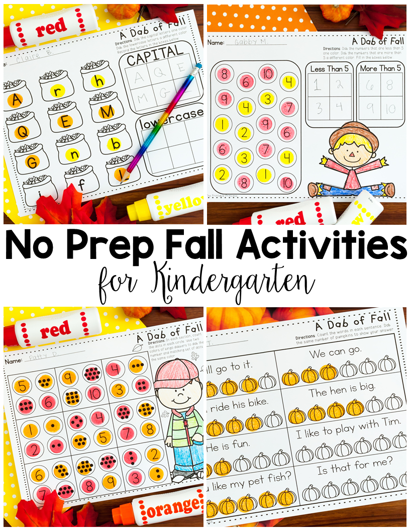 photograph relating to Fall Printable Activities identify No Prep Drop Things to do for Kindergarten And Video games Also