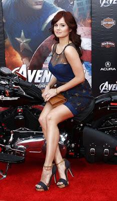 Debby Ryan на мотоцикле