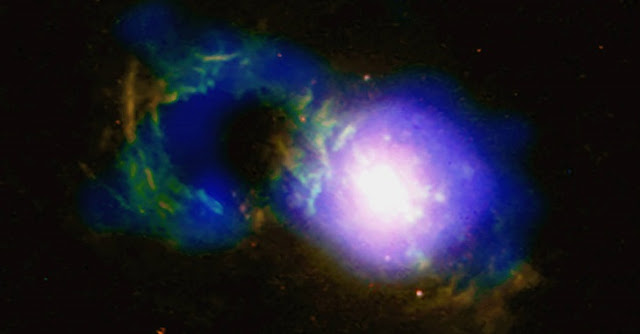 Credit: X-ray: NASA/CXC/Univ. of Cambridge/G. Lansbury et al; Optical: NASA/STScI/W. Keel et al.