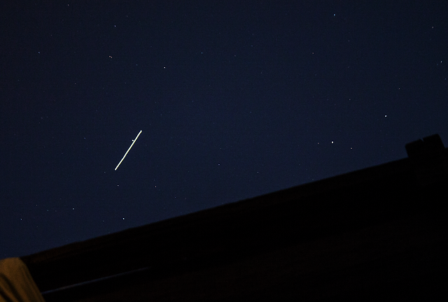 Space station flyby over the Coachella Valley