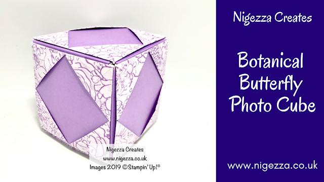 Photo Cube Using Botanical Butterflies, Stampin' Up! Nigezza Creates