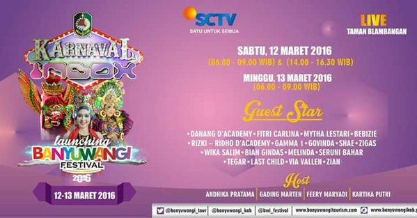 Karnaval INBOX SCTV launching Banyuwangi Festival 2016.