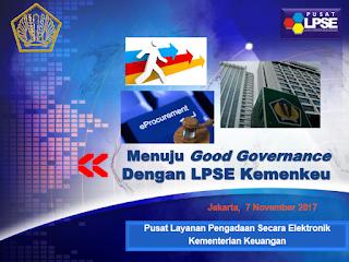 Bimtek Keuangan : Menuju Good Governance Dengan LPSE Kemenkeu