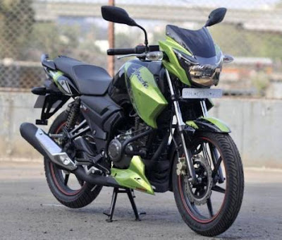 TVS Apache RTR 160 green and Black shades