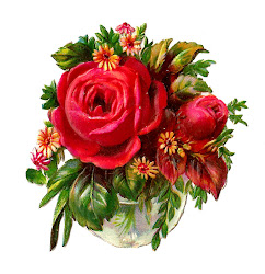 rose clip flower bouquet victorian cut die antique pretty