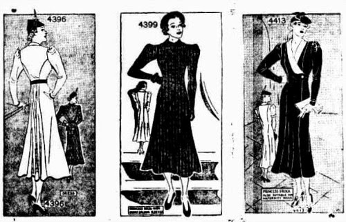 1937 maternity fashion illustrations
