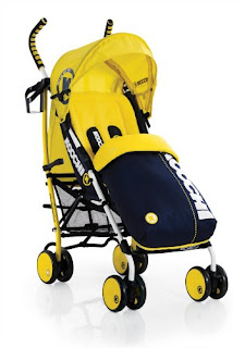 Koochi Speedstar Stroller - Primary Yellow