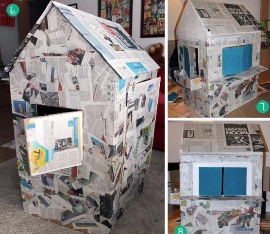 C mo hacer la mejor casita de cart n para ni os paso a paso lodijoella - Como hacer una casa de carton pequena ...