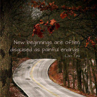 New beginnings are often disguised