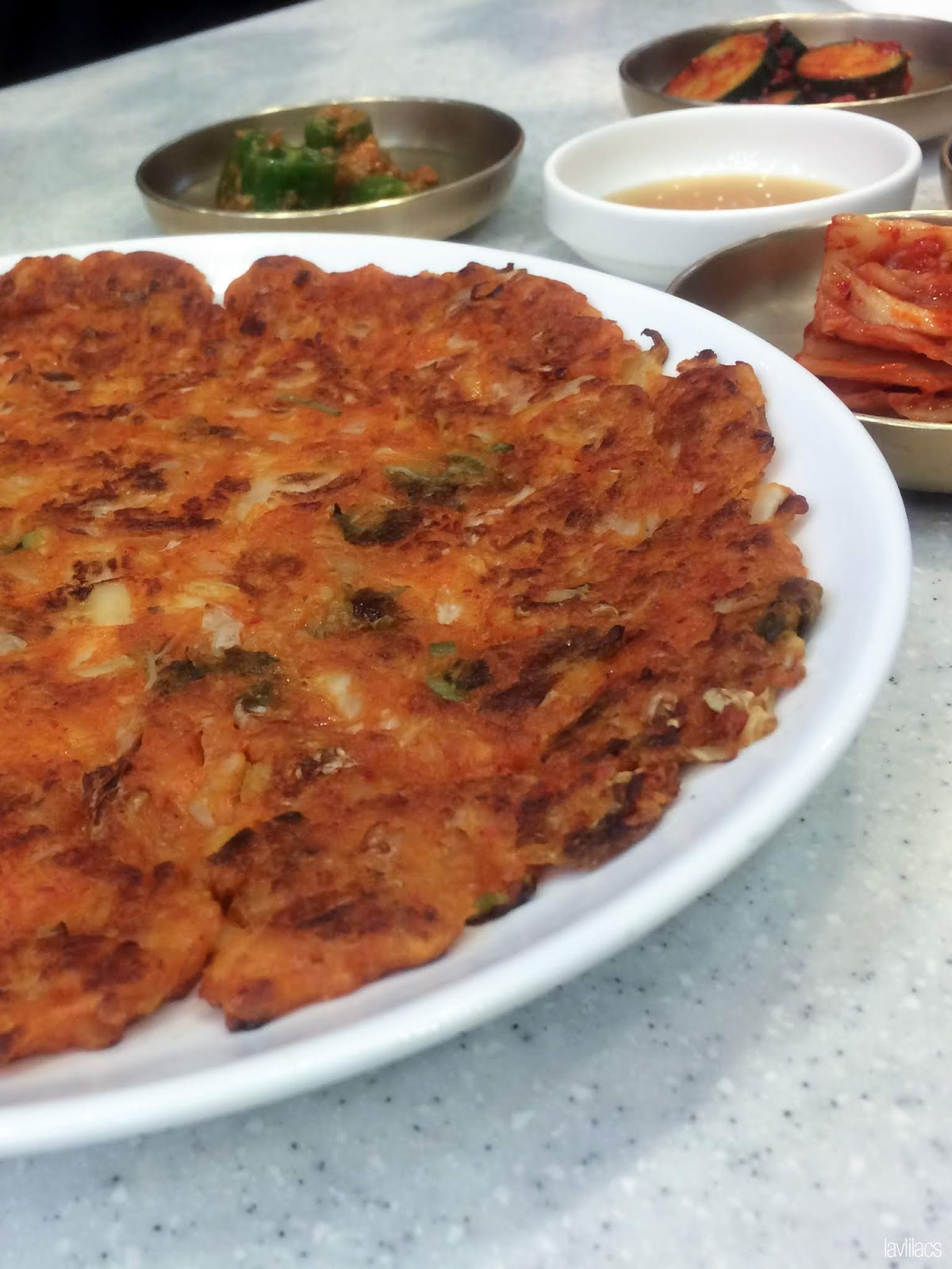 Seoul, Korea - Summer Study Abroad 2014 - Busan Lotte Department Store - Mihyang scallion pancake pajeon
