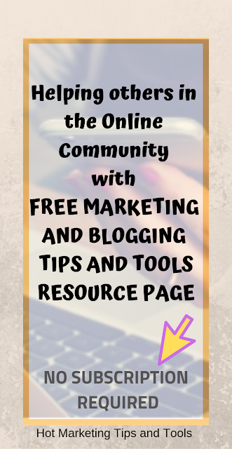 Helping others with free blogging and marketing tips and tools
