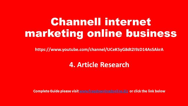 [Belajar Clickbank] hari 4 - Riset Artikel