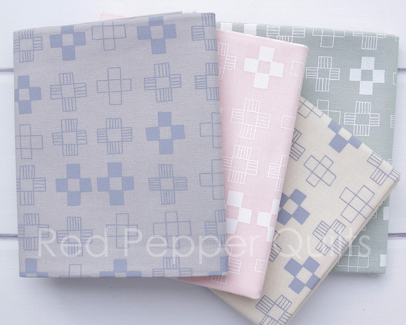 Blueberry Park 3 by Karen Lewis - Neutral Color Story | © Red Pepper Quilts 2018 #blueberryparkfabric #sundaystash