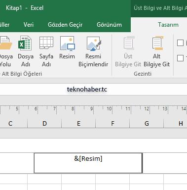Excel filigran ekle