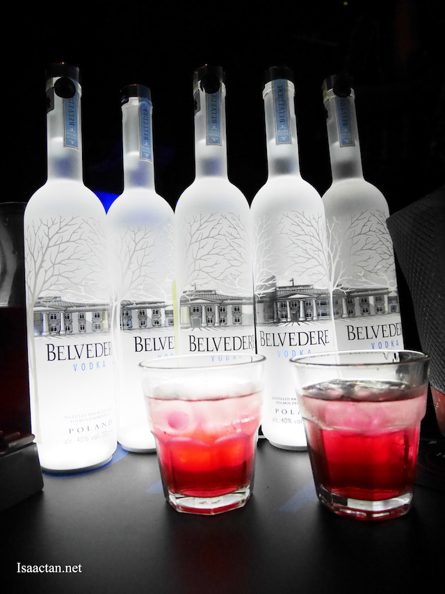 Belvedere Vodka, all night long.