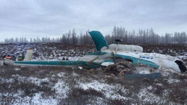 Um helicóptero russo caiu no noroeste da Sibéria, matando pelo menos 19 pessoas, segundo as autoridades locais.