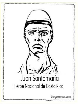 colorear Juan Santamaria
