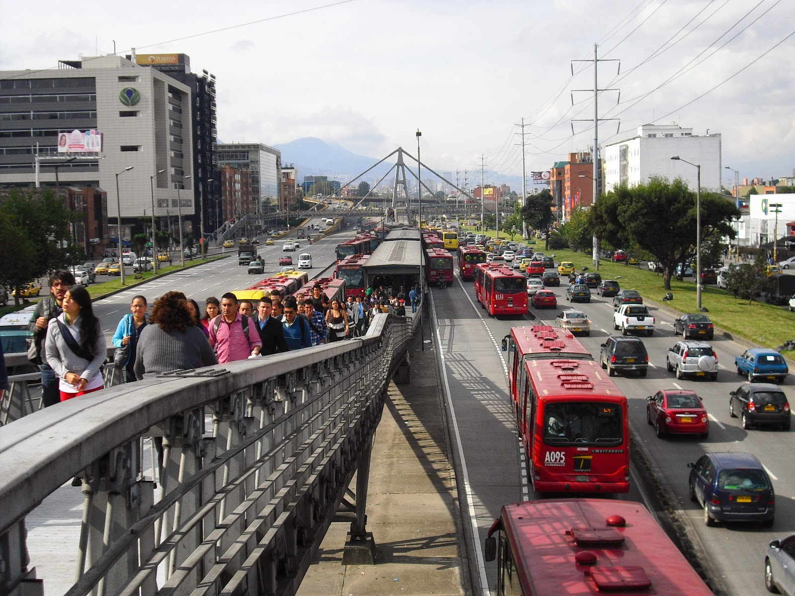 The Transmilenio -- looking good (well not quite).