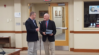 Council Chair Matt Kelly recognizes Bob Vallee