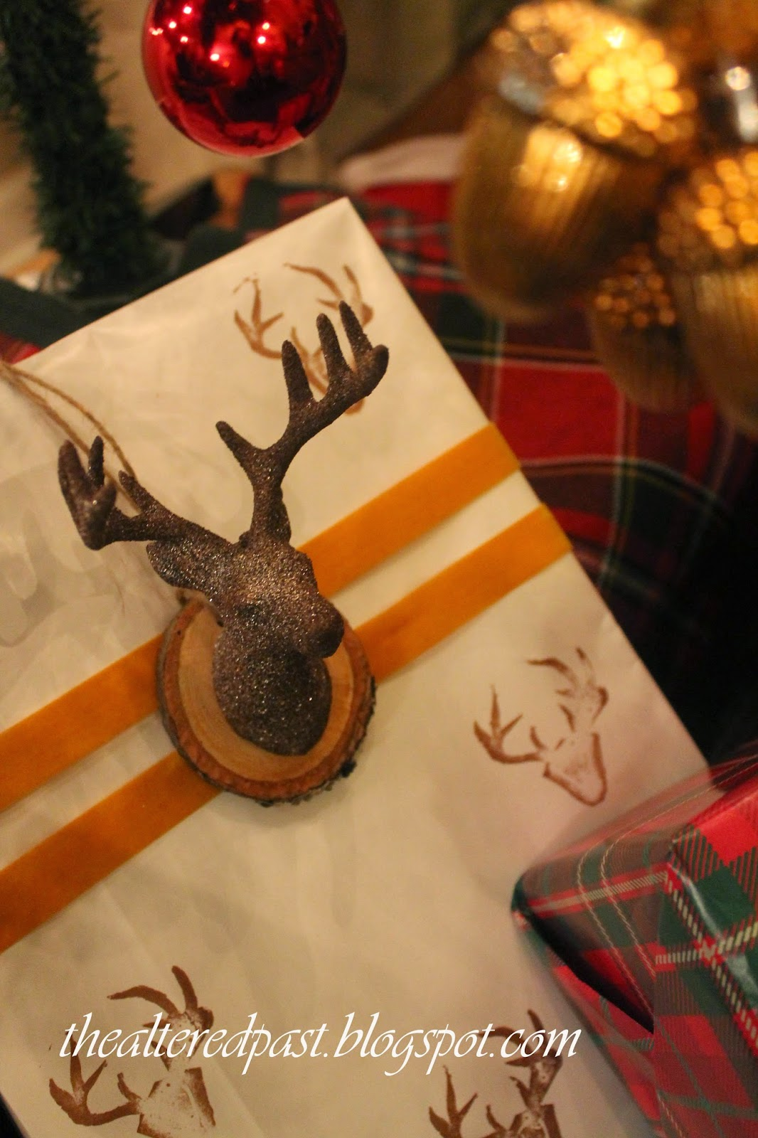 beautiful deer head gift wrapping, the altered past