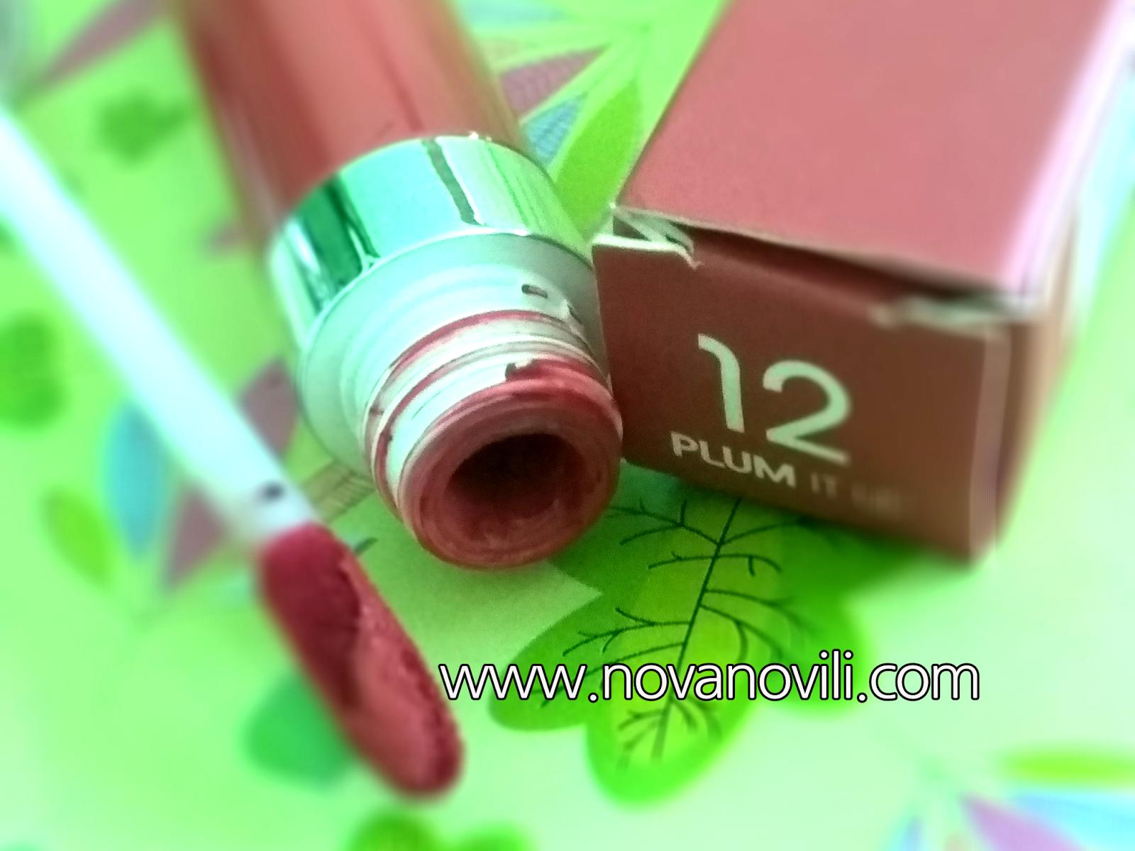 Review: Wardah Exclusive Matte Lip Cream 12 Plump It Up