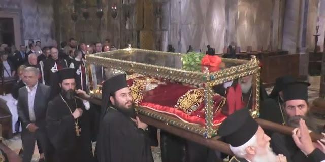 Мощи святой царицы Елены впервые принесли в Грецию