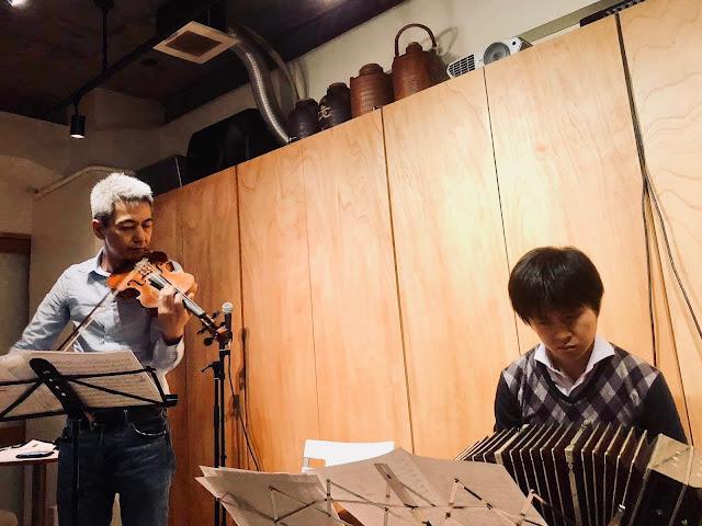 2018年11月8日 喜多直毅(vln)/清川宏樹(bandoneon) 先杯(大阪)