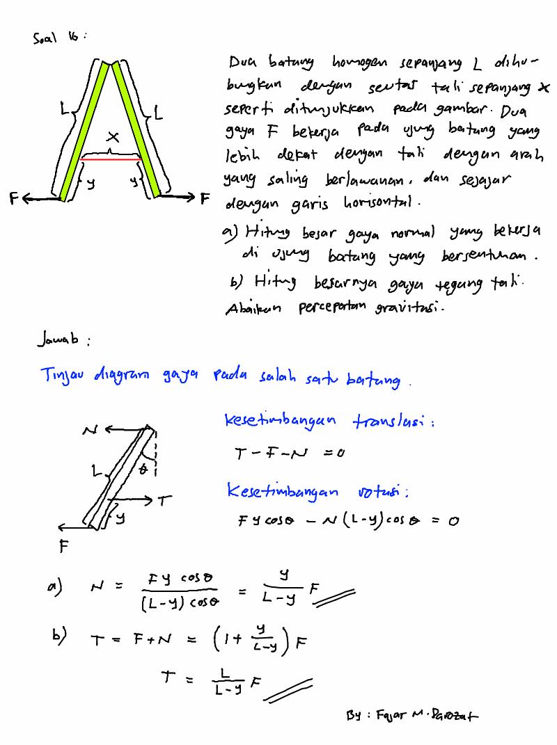 Contoh Soal Fisika Olimpiade