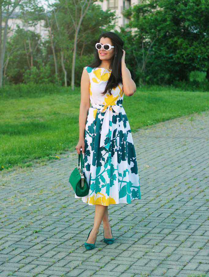 What To Wear For Garden Party, eShakti Dress, Customized Dress, Summer Dresses For Special Occasions