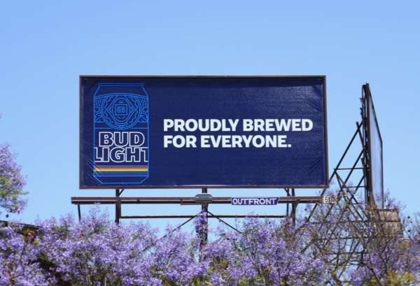 Bud Light Proudly brewed everyone billboard
