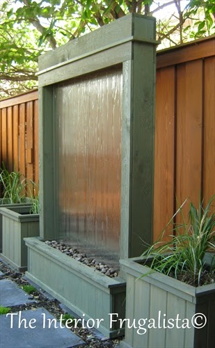 Sagebrush Green stained DIY Outdoor Water Wall
