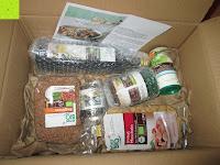 Verpackung: Rossmann enerBio - Berglinsen, Dinkel-Muscheln, Klare Gemüsebrühe, Olivenöl, Pesto Verde, Kräutermeersalz (mit Rezept)