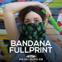 Custom Bandana Full Printing Full Color Bahan Serena & Polyester