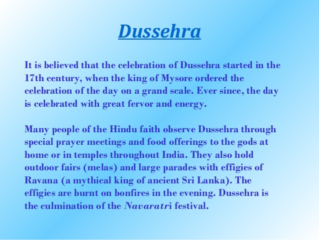 Essay on dussehra in sanskrit language