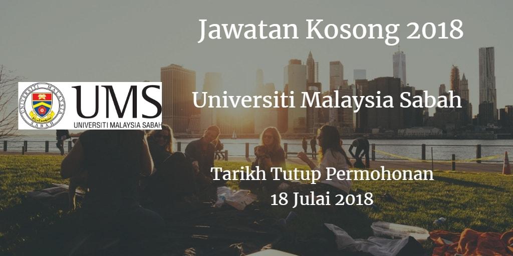 Jawatan Kosong UMS 18 Julai 2018