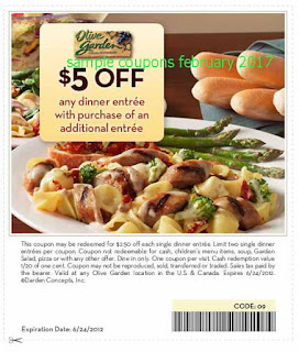 Olive Garden coupons february