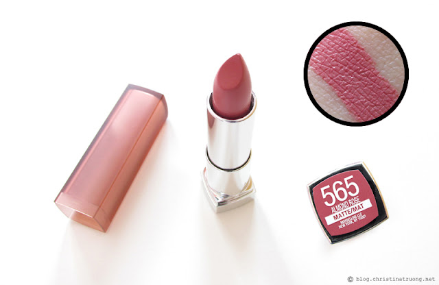 Maybelline Color Sensational Inti-Matte Nudes Lipstick in Almond Rose Review Swatch