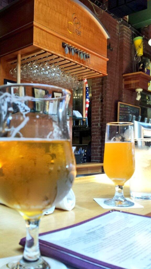 Beers at Cambridge Brewing Company.