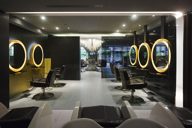 Green Pear Diaries, interiorismo, peluquería, Prim4 Hair Salon, Taipei, Taiwán