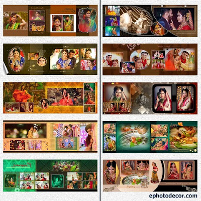 Indian Karizma photo Album 12x36 PSD templates Collection