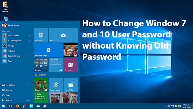 Hack & Change Window 10/8/7 User Password Without Old Password {TRICK} 1