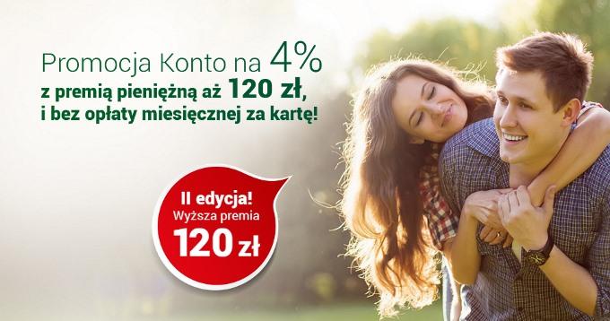 Konto Godne Polecenia 4% z premią 120 zł