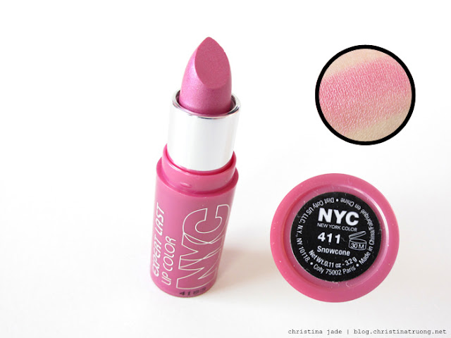 New York Color Expert Last Lipstick Swatches 411 Snowcone