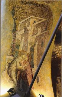 Ο ασπασμός των Θεοπατόρων,   τοιχογραφία στην Μονή Χώρας στην ΚωνΠολη.