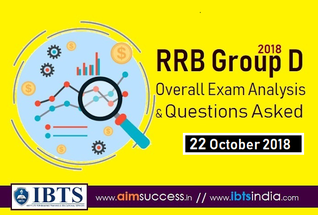 RRB Group D Exam Analysis 22 October 2018 & Questions Asked